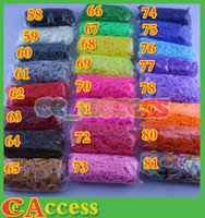 Wholesale Pick UP Colors Rainbow Loom Bands Refill Kit DIY Wrist Bands Dual Color Bracelet for kids bands C or S clips