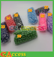 Link, Chain   Rainbow Loom Kit DIY Wrist Band Dual Color Bracelet for kids (600 pcs bands + 24 pcs C or S clips ) from ce_access