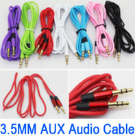 iphone 5 cables - 3 mm AUX Audio Cable Male to Male Stereo Car Extension Audio Cables M for iPhone S C G iPad Air Samsung Galaxy S5 S4 i9500 Note3