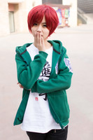 Wholesale Attack On Titan Sexy Ladies Corps Soft Cosplay Chiroptera Green Batwing Sleeve Sweatshirt