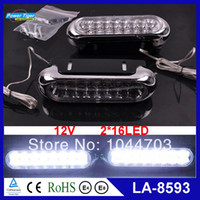 2014 A4,A6,Accord,Astra,Asx,Camry,Civic,Corol LA-8593 Wholesale Universal 6pairs lot 12V Auto Car Truck 16 LED Daytime Running Lights DRL Car Fog Day Driving Lamp