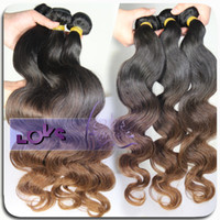 Wholesale A Grade Brazilian Ombre Hair Weave Body Wave Two Tone Combine With Color b Remy Human Hair Weaving
