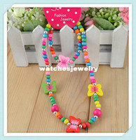 Wholesale w shipping Children jewelry best baby products children kid jewelry set handmade butterfly necklace CS03