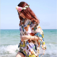 Wholesale Bikini Swimwear Butterfly Sarong Beach Cover Up Beach Dress Sexy Women Long Scarf Wrap C1264