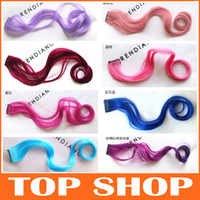 Wholesale Color Curly Hair Piece Clip in Hair Extension quot Wavy Synthetic Hairpiece Curly Hair Extensions JF1089