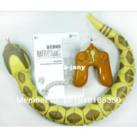 Wholesale New Radio Remote Controlled Wireless RC Animal Toy Rattle Snake Funny Gift T0560