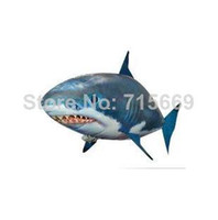air shark balloon - Remote Control Air Flying Fish Inflatable Balloon AirSwimmers Clown Fish and Shark Kids Gift Toy