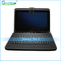 Wholesale 9 Inch Leather Keyboard Case Cover suit for inch Tablet PC A13 A20 Dual Core OEM MID
