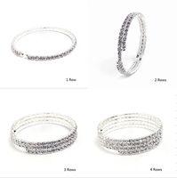 Wholesale Sparkly Silver Full Rhinestone Crystal Diamante Bridesmaid Bangle Bracelets