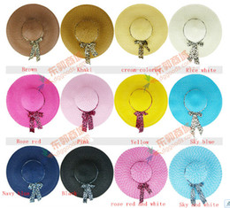 Wholesale Straw beach hats lady straw hats women s caps fashion wide hats colors available mix colors