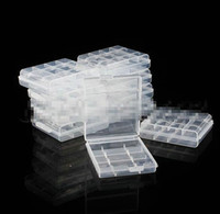 aa plastics - 10pcs Durable Clear Hard Plastic Battery Case Holder Storage Box for AA AAA lithium li ion Ni MH Ni Cd rechargeable Battery case box