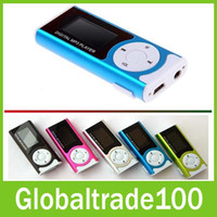 Wholesale Mini Clip Mp3 Music Player With LCD Screen LED Flashlight Support Memory TF Card Free DHL Shipping