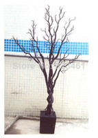 Wedding   120cm Simulation Bonsai Tree Branches Wedding Crystal Tree Stage Props Branch Artificial Tree Ornament Craft
