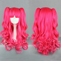 Curly Synthetic Hair Wig,Half Wig New fashion 70CM Long multi -color Beautiful lolita wig Anime Wig ,free shipping cheap