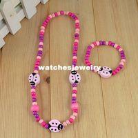 Wholesale Young handmade jewelry children kid jewelry set Beetle necklace bracelet bangle Fashion jewelry CS11