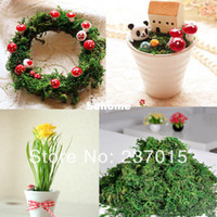 Wholesale 100g Dried Artificial Reindeer Moss For Lining Decor Flower Hanging Baskets Plant