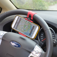 Wholesale Brand New Steering Wheel Cradle Holder SMART Clip Car Bike Mount for Mobile Cell Phone GPS