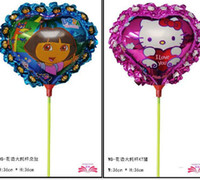Multicolor balloon with stick - Cheap Kinds of Styles Cartoon Animal Helium Balloon with Stick For Kids Christmas Gifts Toys Birthday Party Decoration