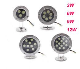 LED Underwater Light 3W 6W 9W 12W DC 12V Floodlight Outdoor Waterproof IP68 Spot Light Lamps Bulbs Lighting Warm white Cool white Pond Bulb
