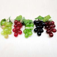 artificial fruit - Bunch Bunch Simulation Artificial Plastic Grapes Fruit Home Restaurant Decorative Photographic Props