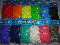 Wholesale Popular sets Colors DIY Bracelets Kit Refills Rubber colorful Loom Bands bands s Clips hook Se