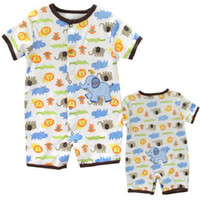 TuTu Summer A-Line 5 pcs lot 2013 new style Spring Summer cotton short sleeve romper climbing clothes for boy baby