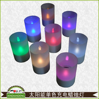 Wholesale Solar Home Light LED Candle Light Night Light romantic candles decorative lights confession to marry
