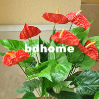 Valentine's Day Decorative Flowers & Wreaths,Silk Flower Yes Small bonsai green plants artificial tree fake tree decoration 3 anthurium