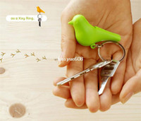 Wholesale New amp Top fashion plastic sparrow key ring cute bird house key holder plastic Whistle bird keychain