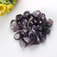 Wholesale Amethyest Tumbled Stones Beads Points Crystal Healing Reiki Polished Free pouch