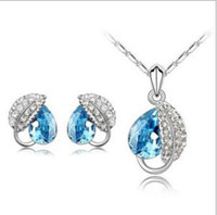 Others Celtic Women's hot wholesale Austrian crystal earrings necklace and Ring Set - mood - Swarovski Elements Jewelry Set z068