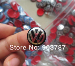 300pcs blue   black 14mm logo VW KEY fob badge VW key emblem car badges sticker