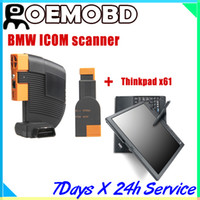 Wholesale 2014 Newest BMW ICOM ABC ICOM A B C for BMW ISIS ISID ICOM A B C Thinkpad x61t Laptop with latest software BMW Diagnsotic Tool