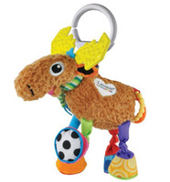 Teddy Bear Multicolor Plush Lamaze deer baby plush crib bed hanging toy early development toys