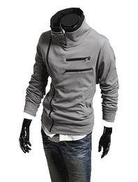 Wholesale High Collar Men s Jackets Top Brand Dust CoatHoodeies Clothes M L XL XXL F179