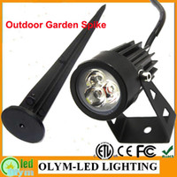 Wholesale AC85 V Garden Lamp Outdoor Light W Color Full RGB Lamp Outdoor park Spotlight Bulb V With Spike