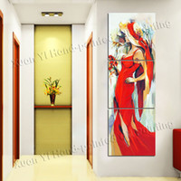 More Panel Oil Painting Fashion 3 Panels Modern Body Handpainted Modern Art Wall Home Decor Canvas oil painting Sexy Nude Landscape Abstract oil paintings