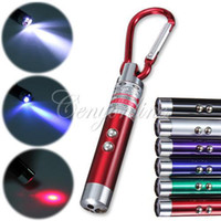 Ultrafire 160lm LED Flashlight sale product !4 in 1 Mini UV Light LED Flashlight Torch Red Ray Laser Pointer Pen Keychain 1mW