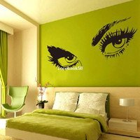 Wholesale 5 set Hot Selling Black Audrey Hepburn s Eyes Silhouette Wall Sticker Decals Home Decor Removable