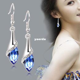 Wholesale Korean female Austrian crystal earrings Long earrings in sterling silver crystal jewelry Yiwu jewelry