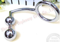 gancho de acero inoxidable instrumento del masaje de próstata ano de acero inoxidable tapón anal SM, perlas de acero inoxidable