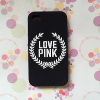 Wholesale For iPhone4S S Samsung S3 S4 S5 Luxury Cell Phone Case With Love Pink Style Silicone Protector Cover Case Colors Retail Package