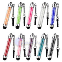 Wholesale New Fashion x Crystal Mobile Phone Stylus For iPhone S G mm Dust Plug Style Bling Clear Touch Screen Pen