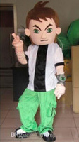 Mascot Costumes ben ten costumes - style Custom made Cartoon Character Costume mascot ben ten boy Benjamin Tennyson costumes clothes suits clothing for Adult Size