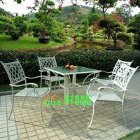 Wholesale Outdoor Aluminum Chair Set Hotel Villa living room clubhouse outdoor café tea park district