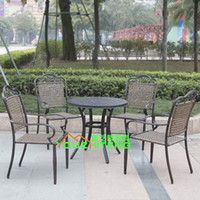 Wholesale Outdoor Aluminum Chair Set Villa outdoor leisure club hotel courtyard terrace cafe tea