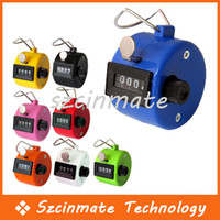 Wholesale 4 Digit Hand Held Tally Counter Manual Clicker Palm Golf Tally
