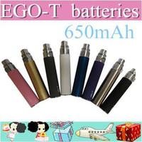 650mAh other  2000pcs 11colors OEM design eGo T Battery e cigarette colorful 650mah Electronic Cigarettes Battery 10 Colors plastic pipe AAAAA