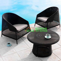 Wholesale Garden furniture living room balcony outdoor leisure furniture rattan wicker chair combination hotel and villa export home home