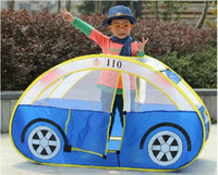 Tents Animes & Cartoons Polyester Free Shipping Police Car Design Baby Tent Children's Indoor & Outdoor Fun Play House Tent Great Gifts For Kids